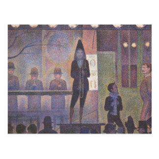 Circus Sideshow by Seurat Vintage Pointillism Art Postcards