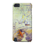 Circus sketch by Seurat pointillist art paintings iPod Touch (5th Generation) Case