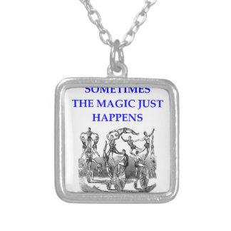 circus square pendant necklace