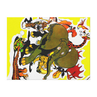 Circus Stampede Canvas Print