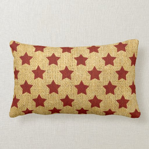 Circus Stars in Rustic Red Pillow