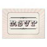 Circus Steampunk RSVP in PInk 3.5x5 Paper Invitation Card