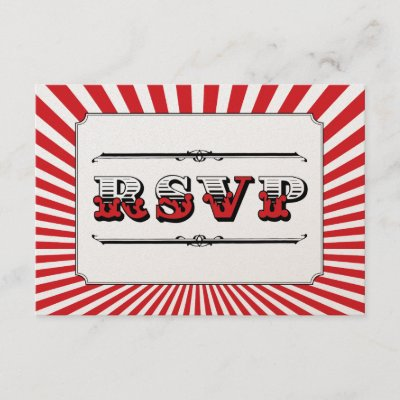 Circus Steampunk RSVP in Red