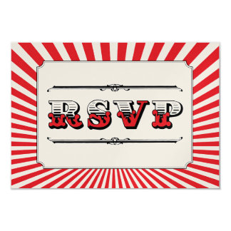 Circus Steampunk RSVP in Red Card