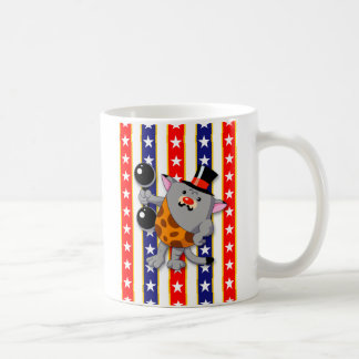 Circus Strong Cat Classic White Coffee Mug