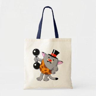Circus Strong Cat Tote Bag