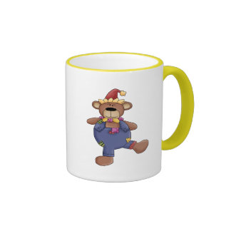 Circus Teddy Bear Ringer Coffee Mug