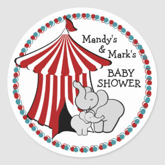 Circus Tent Baby Elephant Stickers