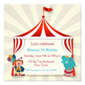 Circus Tent Birthday Card