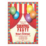 Circus Tent Carnival Birthday Party Invitation