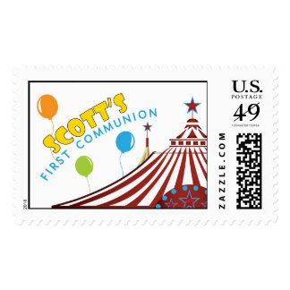 Circus Tent Communion Stamp