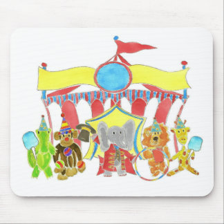 Circus Tent Critters Mouse Pad