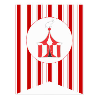 Circus Tent Party Flag Bunting Banner Post Card
