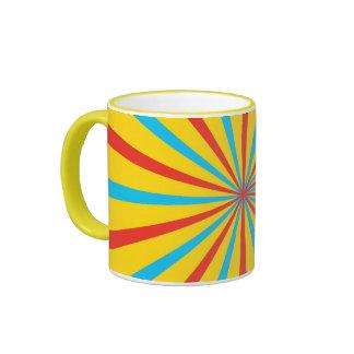 Circus Tent Pattern Ringer Coffee Mug