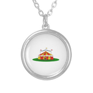Circus Tent Silver Plated Necklace