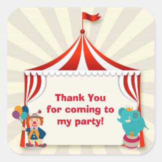 Circus Tent Square Sticker
