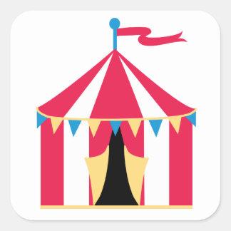 Circus tent sticker