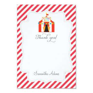 Circus Tent Thank You Card