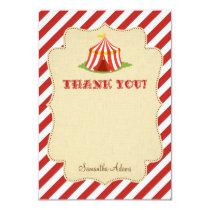Circus Thank You Card