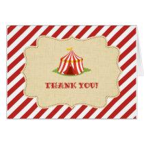 Circus Thank You Card Rustic