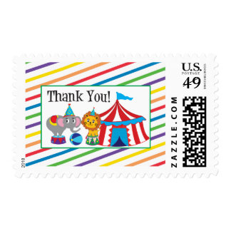 Circus Thank You Postage Stamp