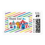 Circus Thank You Postage Stamp