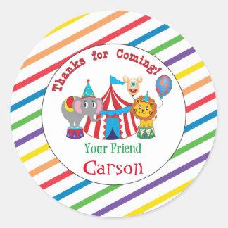 Circus Thank You Sticker