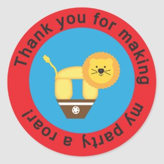 Circus Thank You Stickers