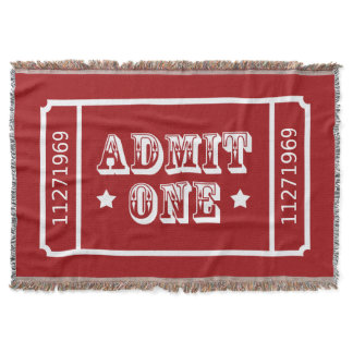 Circus Theatre Movie Ticket Admit One Throw