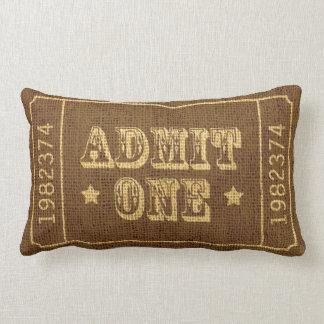 Circus Theatre Ticket Admit One Khaki Pillows