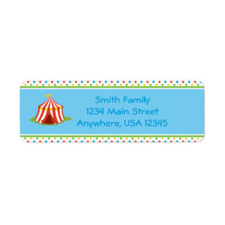 Circus Theme | Circus Tent |  Personalized Label