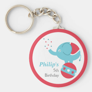 Circus Themed Birthday Party Favor with Elephant Keychain