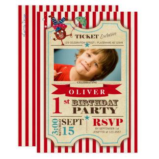 Circus Ticket 1 st Birthday | Party Invitation
