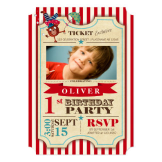 Circus Ticket 1 st Birthday | Party Invitation