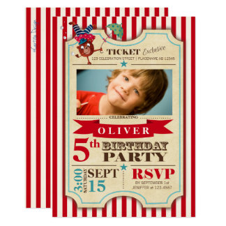 Circus Ticket | Birthday | Photo Party Invitation
