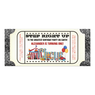 Circus Ticket Party Card