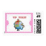 Circus Ticket Stamp - Pink