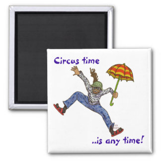 Circus time 2 inch square magnet