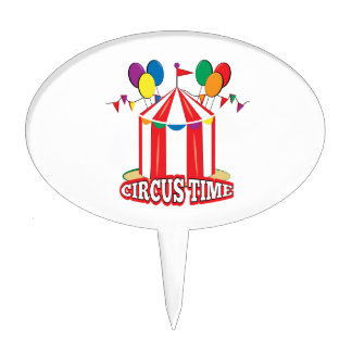 Circus Time Cake Picks