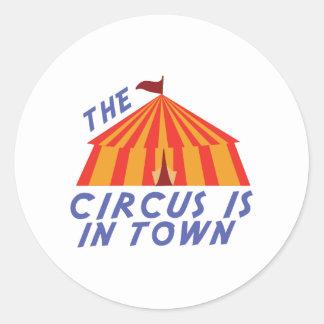 Circus Town Classic Round Sticker