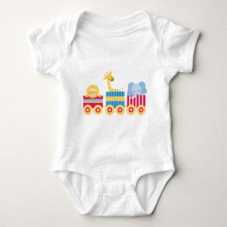 Circus Train Baby Bodysuit