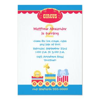 Circus Train Birthday Invitation