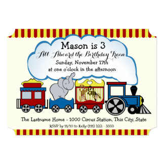 Circus Train Kids Birthday Card