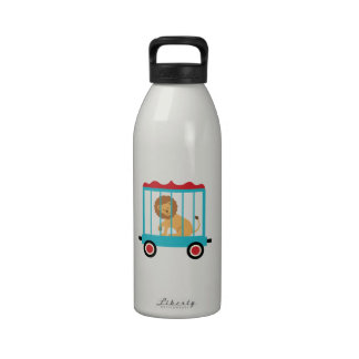 Circus Train Lion Cage Water Bottles