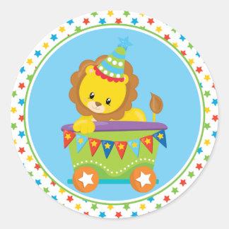 Circus Train   Lion Classic Round Sticker