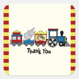 Circus Train Square Sticker