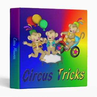 Circus Tricks 3 Ring Binder