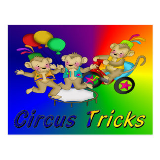Circus Tricks Postcard