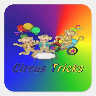 Circus Tricks Square Sticker