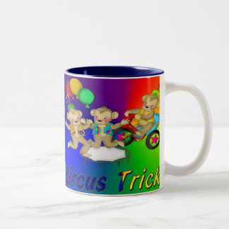 Circus Tricks Two-Tone Coffee Mug